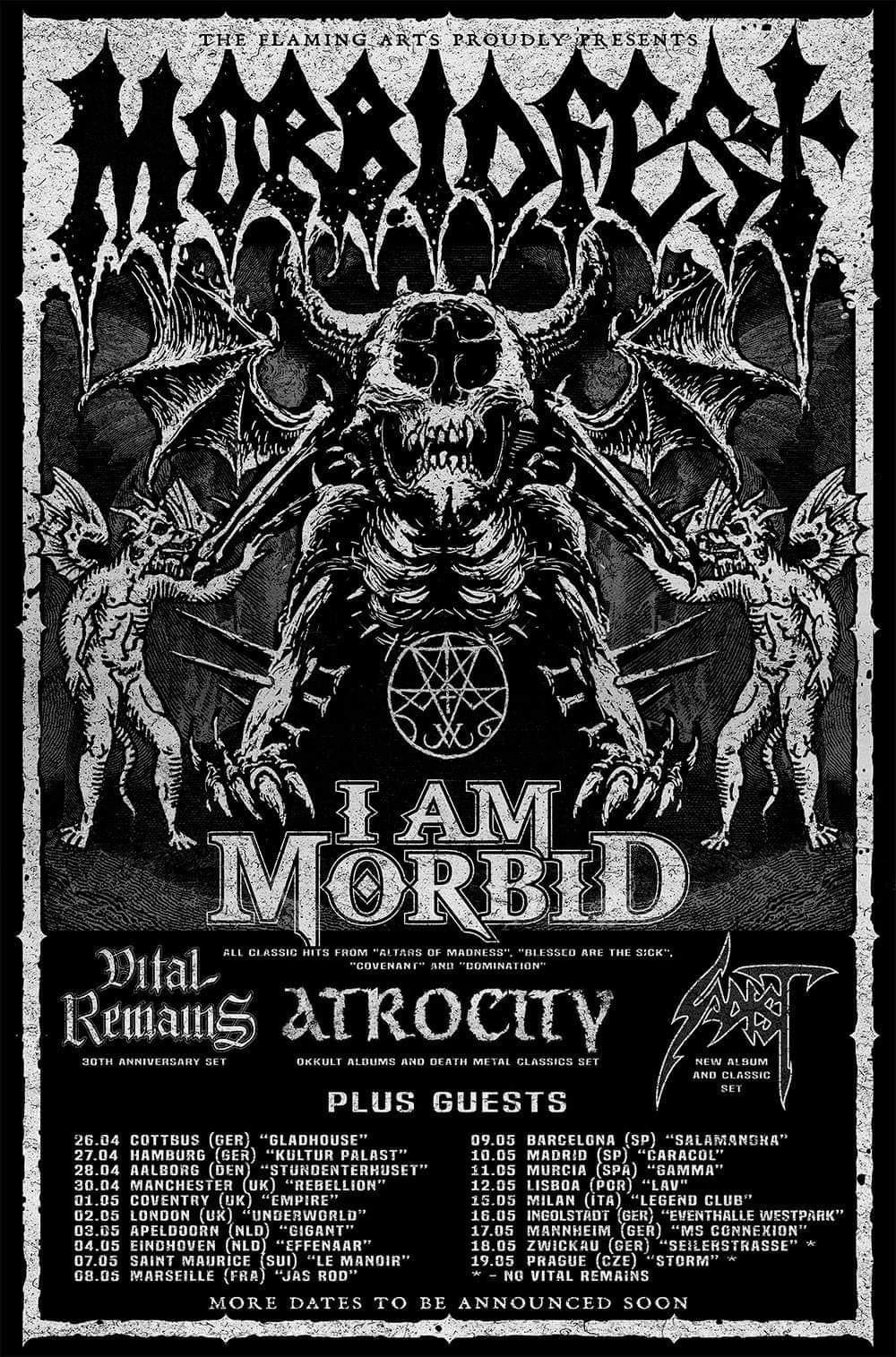 Morbidfest 2019 Tour Dates Poster