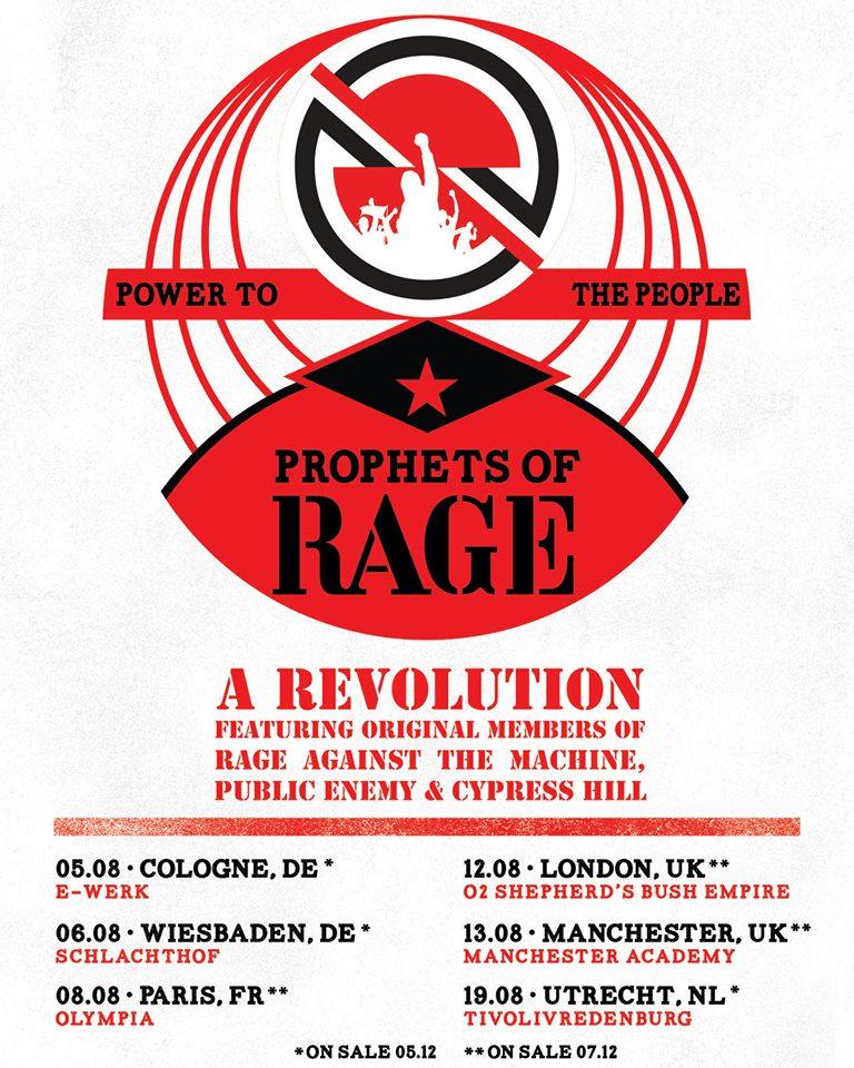 Prophets Of Rage 2019 Tour Dates