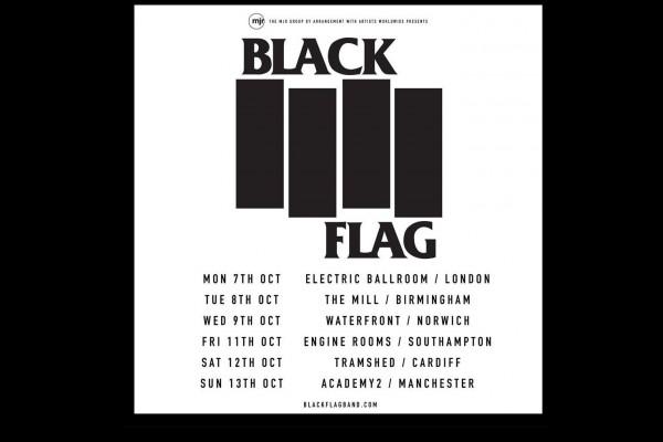 Black Flag UK Tour Dates 2019