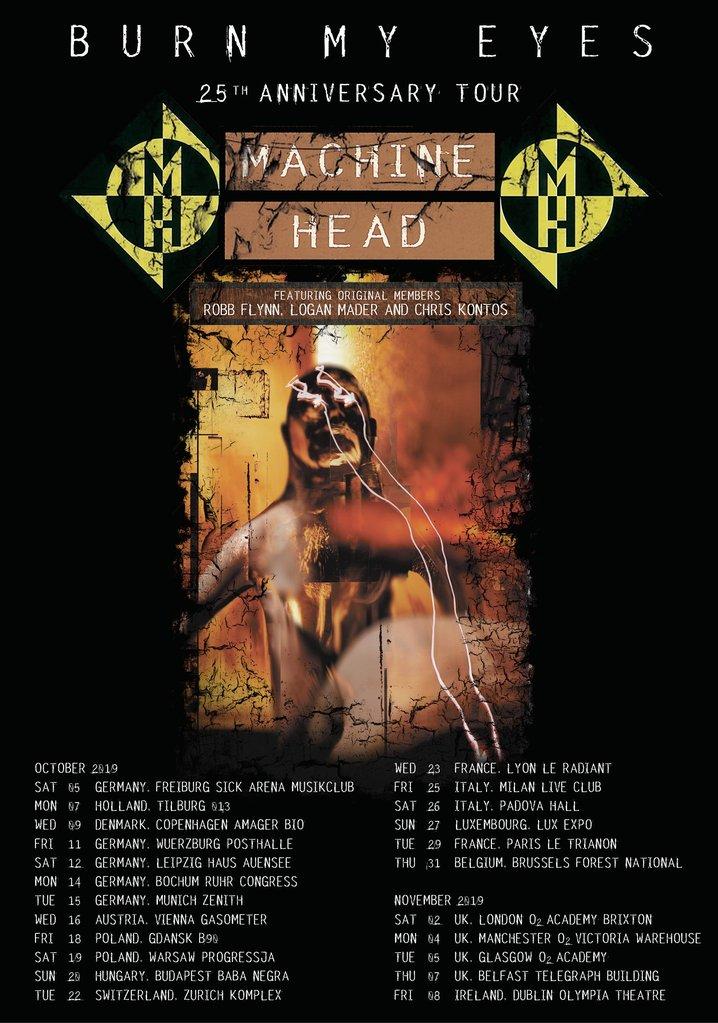 Machine Head European Tour 2019