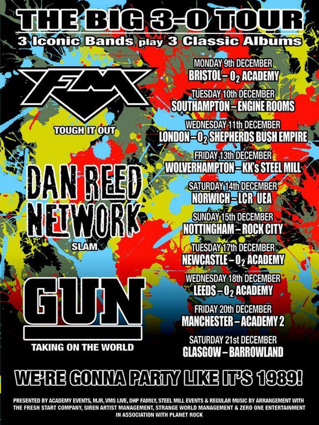 Dan Reed Network - Gun - FM  UK Tour Dates 2019