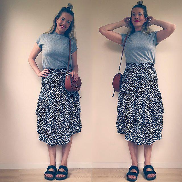 Vi fortsätter på temat plagg som kan användas på fler sätt. Den här kjolen är faktiskt uttalat även en tubklänning! Och jag har burit den så över bikinin i sommar men provar även över t-shirt nu i höst 😎