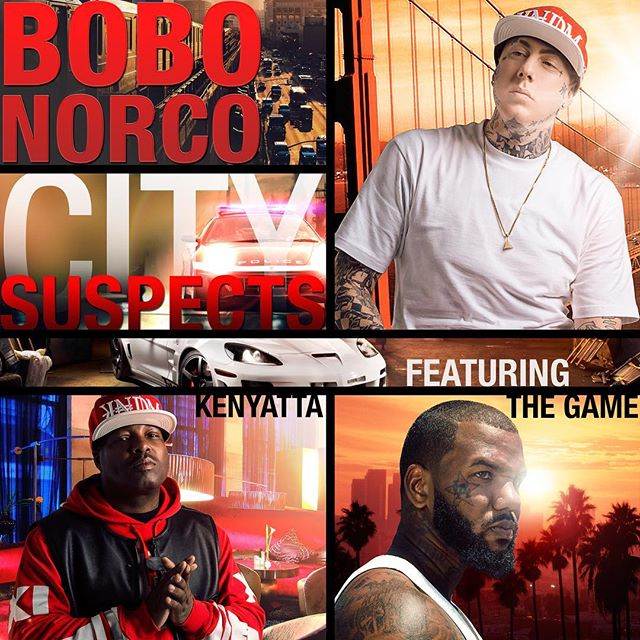 Bobo Norco - City Suspects  Ft. The Game & Kenyatta.  Now available on ITunes.  Produced x N4 Mixed x Sean Sauce  @losangelesconfidential @k3nya77a