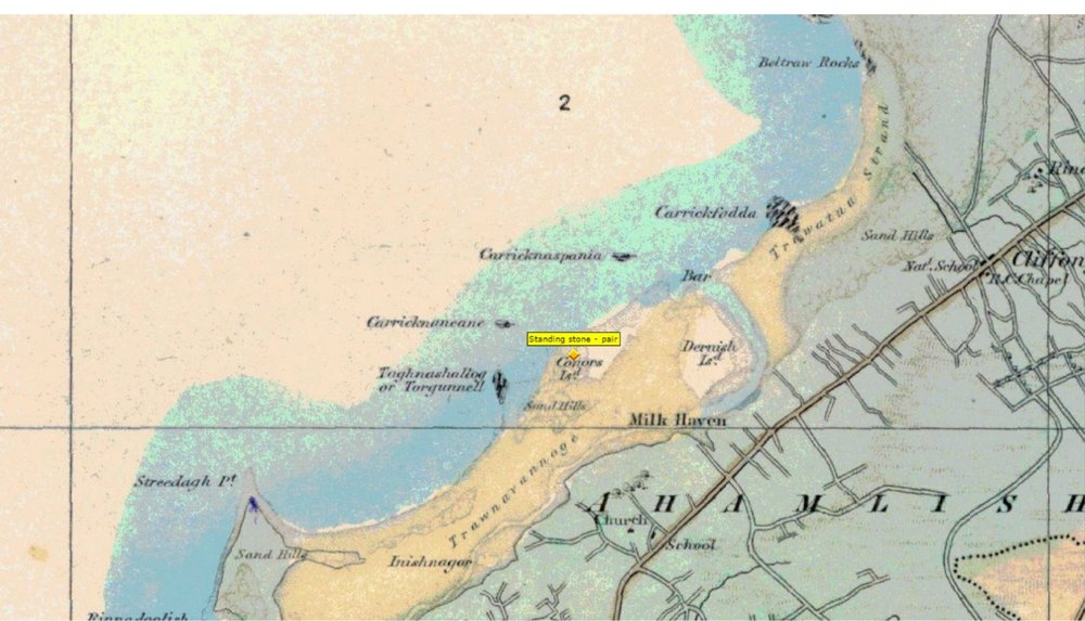 "An 1837 Ordnance Survey map of Sligo shows ""Tor"" (Torgunnel) as a rocky outcrop at the end of Streedagh shore. Derrnish Island, a little further up the coast, was home to my ancestors.."