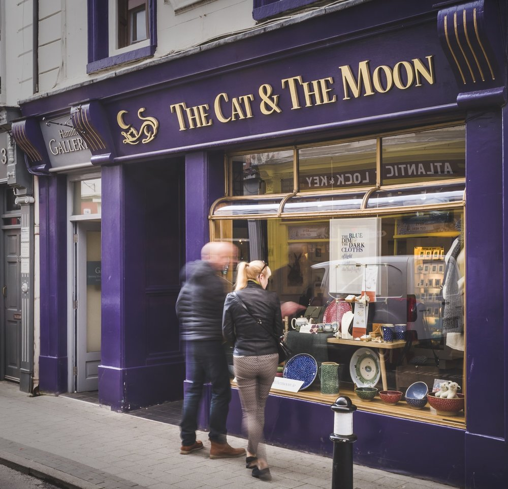 Martina's shop   The Cat and the Moon . 4 Castle Street Sligo.