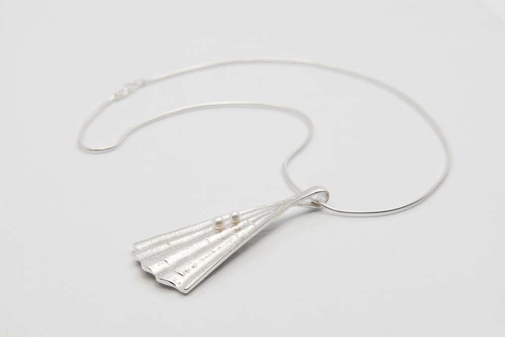 Martina Hamilton Shore Pendant Sterling Silver with Pearls.