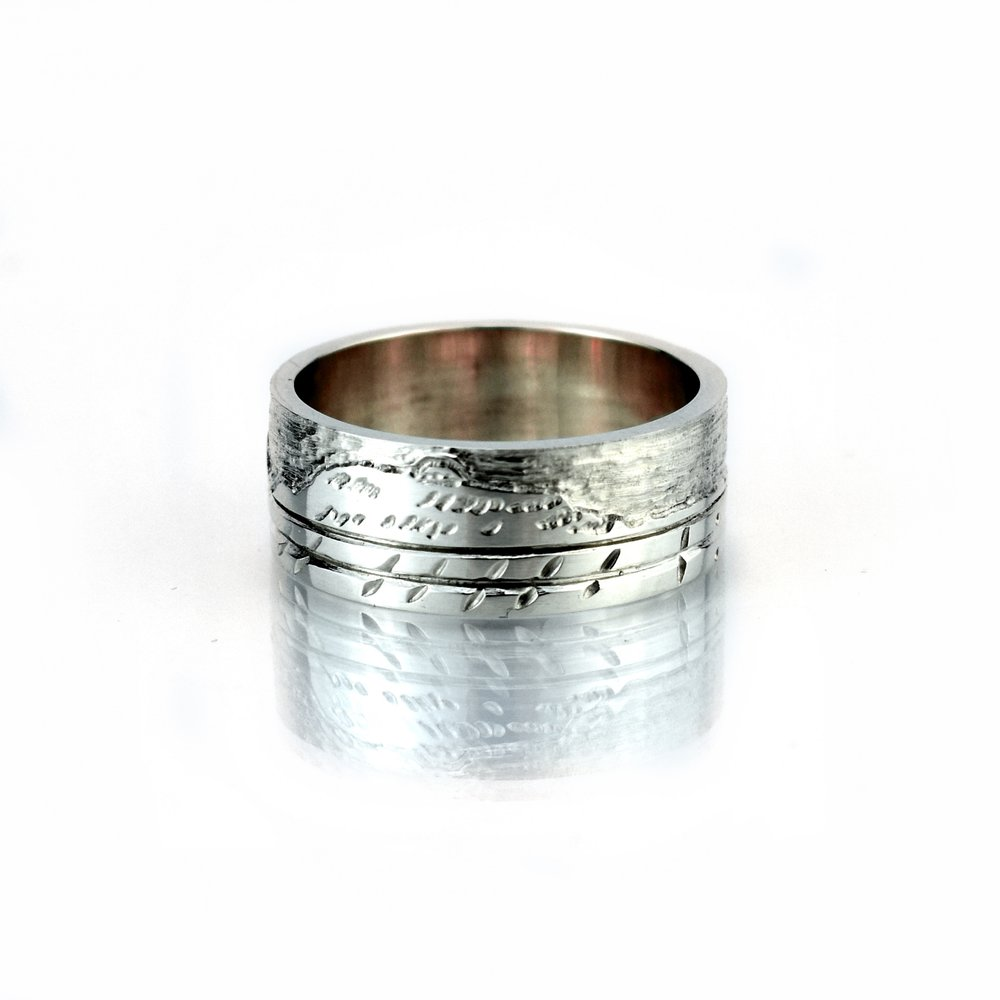White Gold Handmade Wedding Band