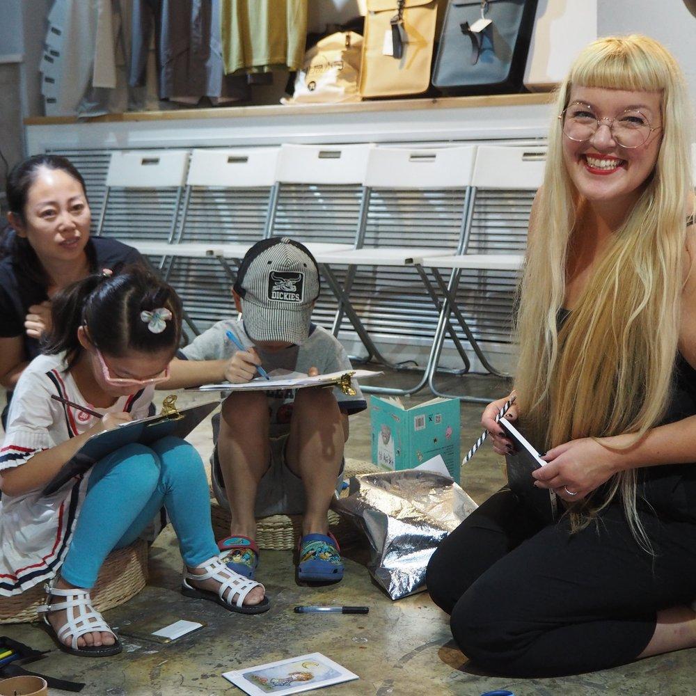 Monster workshop with kids