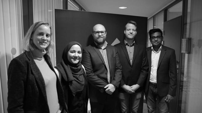 From left: Elisabeth Wethe, Noria Badakhshi, Alexander Olafsrud, Thomas Loland and Ramkumar Chandrasekaran.