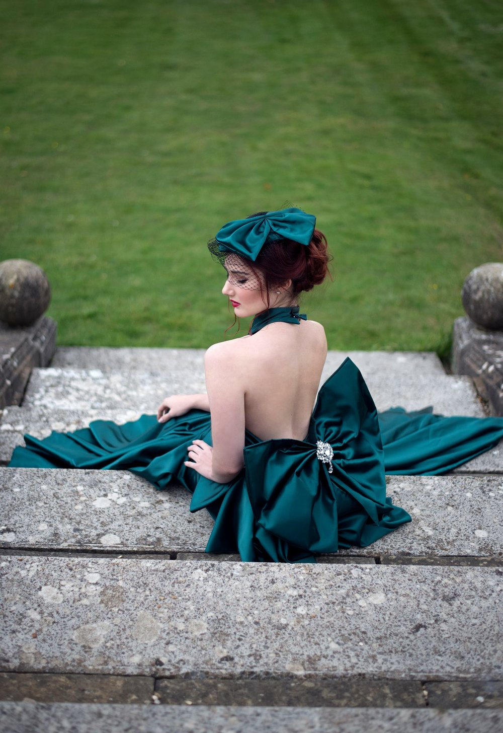 Photographer:  Liv Free   Hair & MUA:  Liv Free   Dress:  Katie Newsam   Location:  Branston Hall