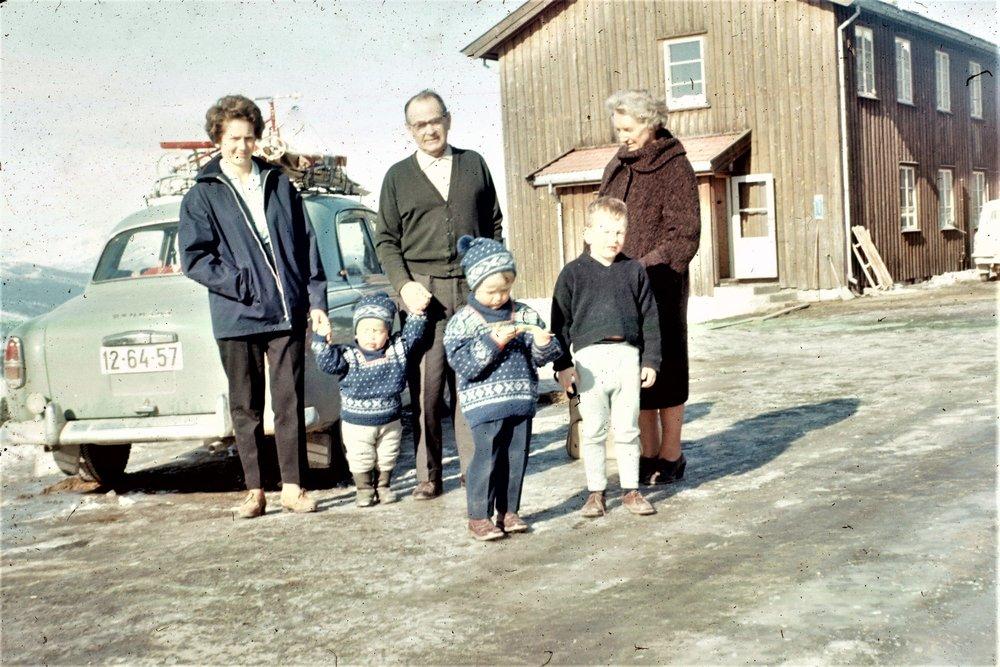 Øivind og Alvilde Lande på Dalseter 1963
