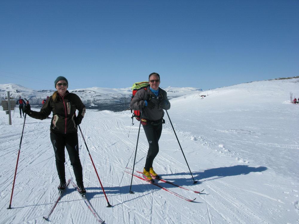 Til lunsjgrillingen ved Bingsbu må du gå på ski!