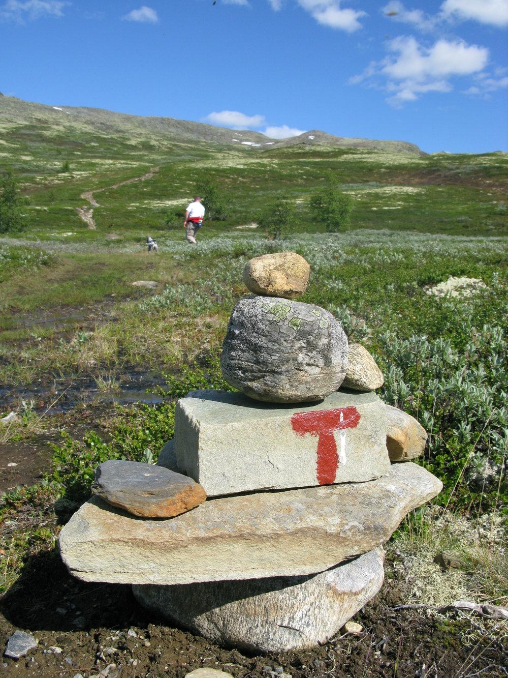På vandring i fjellet - her på vei opp mot Ruten 1517 moh