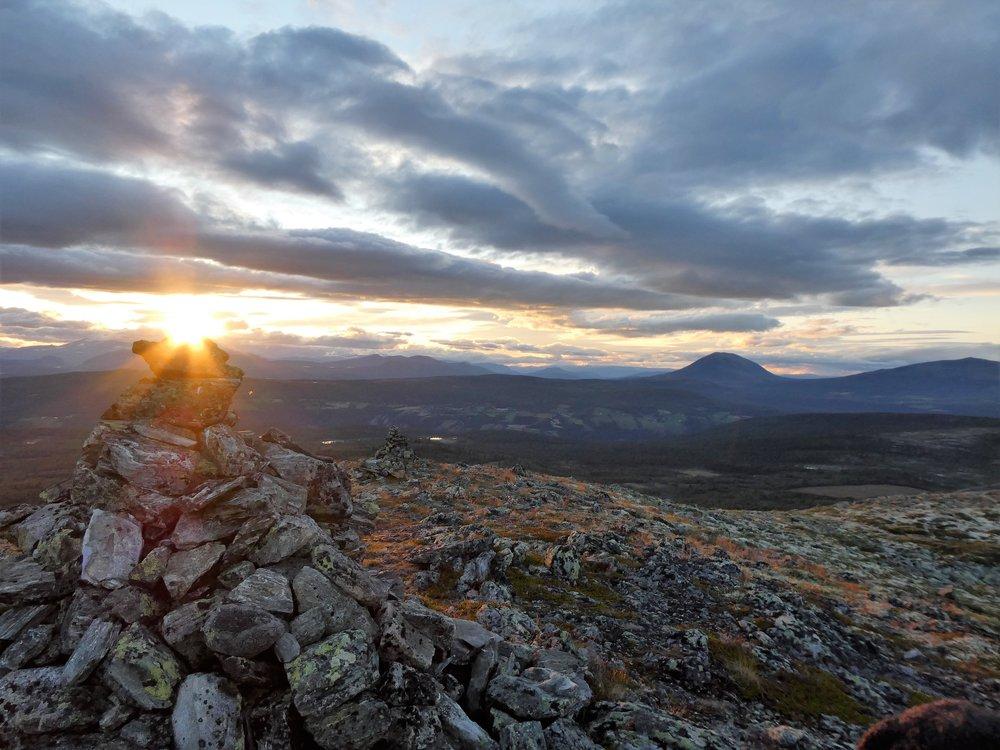 Ved Rundhø i solnedgang