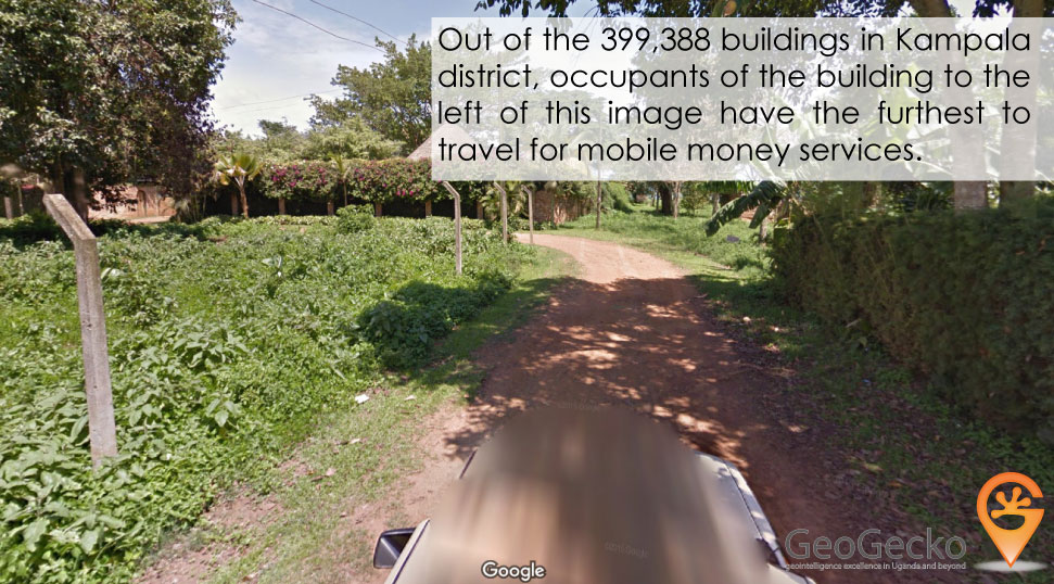 Of the 399,388 buildings in Kampala, this one has the poorest access.