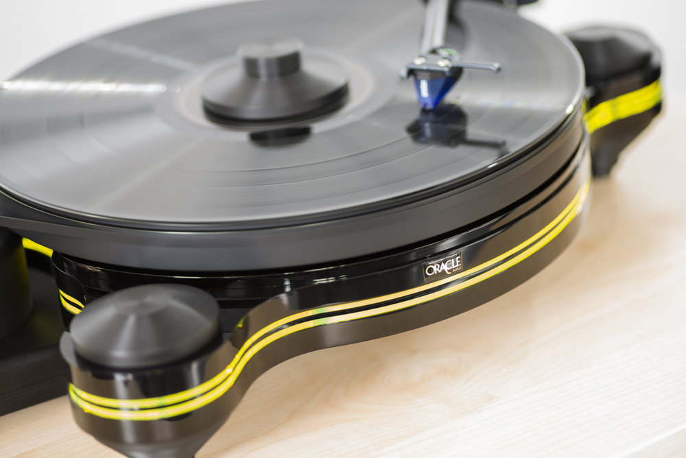 Origine Turntable by Oracle Audio with Ortofon 2M Blue Cartridge - Double Insert in Yellow