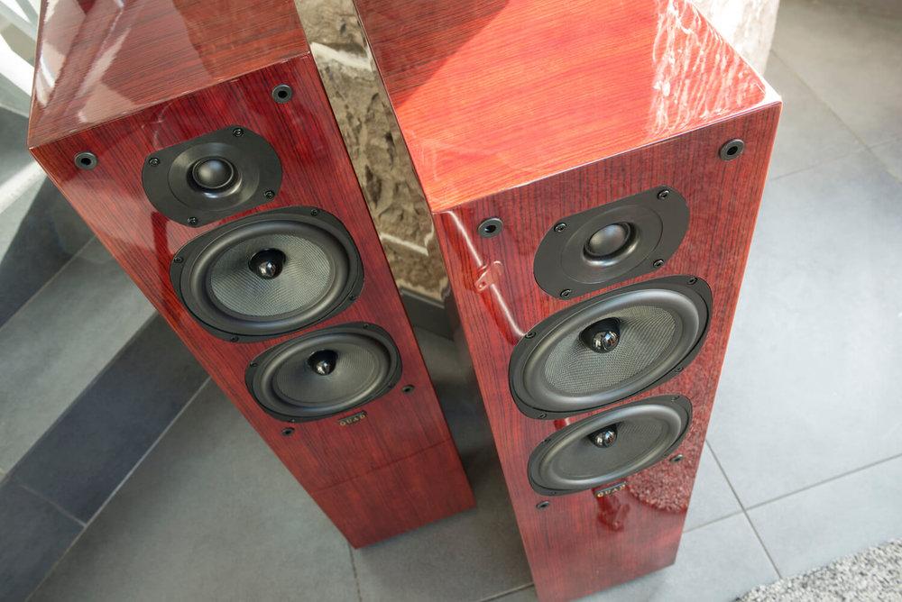 Quad 22l Floorstanding Speakers In Rosewood Audio Philia