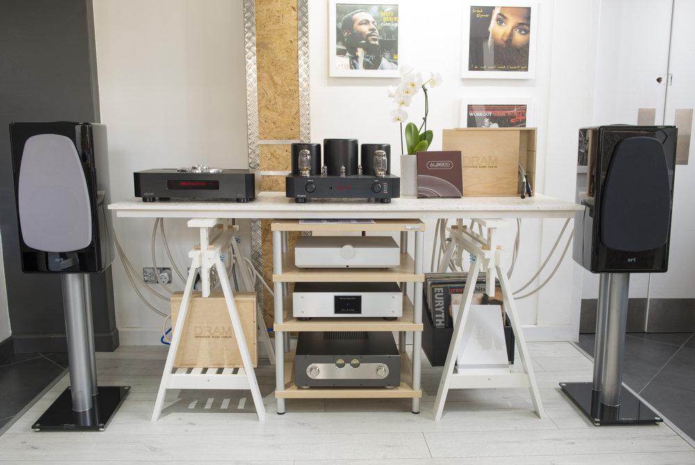ART DRAM Monitor Speakers - Grey or Black Grilles