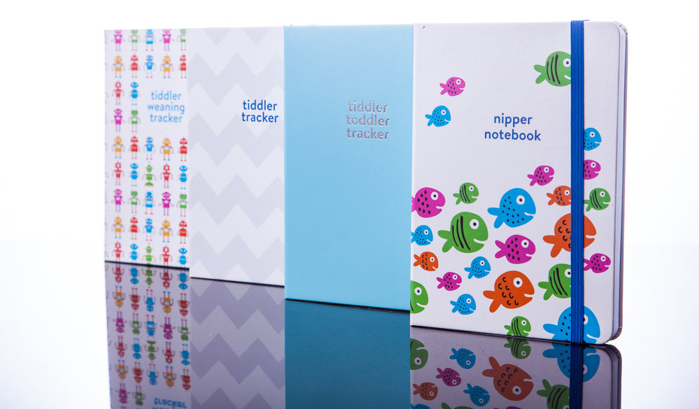 The tiddler tracker series… a range of functional, stylish and user-friendly baby / toddler tracking journals for recording feed, sleep and change patterns