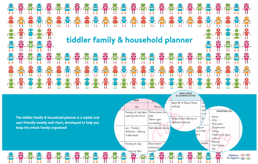 tiddler family tracker & tiddler family & household planner - helping busy parents keep track of essential family logistics...
