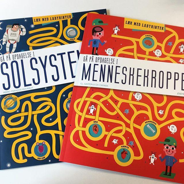 Lær med labyrinter! Gå på opdagelse i solsystemet og menneskekroppen med vores to nye titler 👀