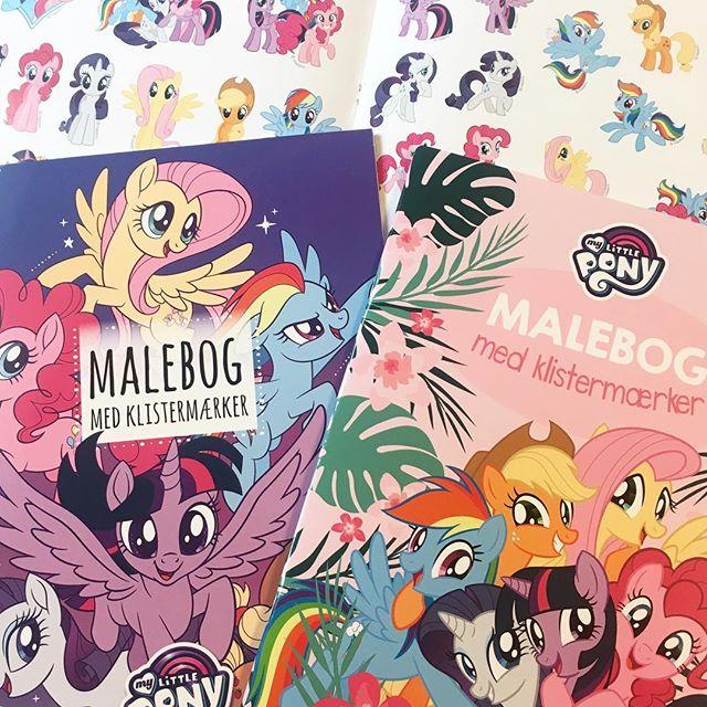 I denne uge kan disse to nye My Little Pony malebøger med klistermærker købes i Netto til 20kr/stk. 💞