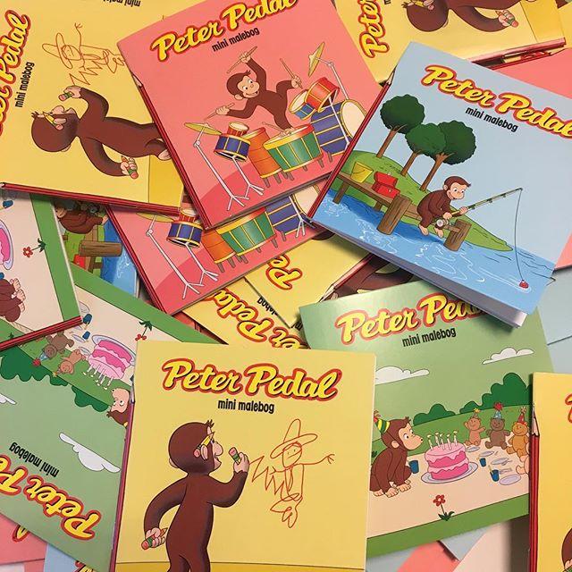 Nye Peter Pedal mini malebøger klar til efteråret 🐒