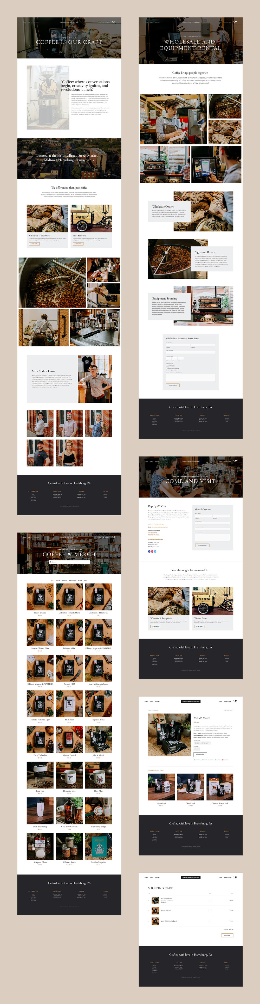 Squarespace Coffee Shop Website Screenshot 2