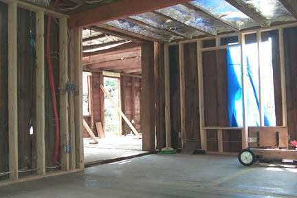 Reframing and Radiant-heat Floor (during)
