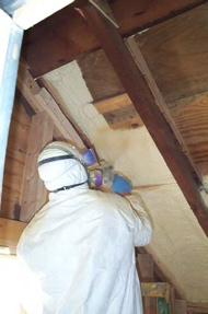 Spray-foam Insulation (during)
