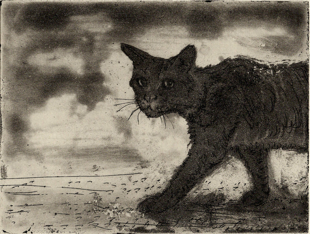 Cat Walk, Etching