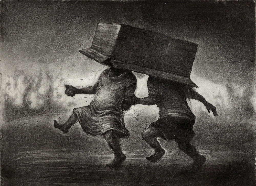 Box Heads, Etching