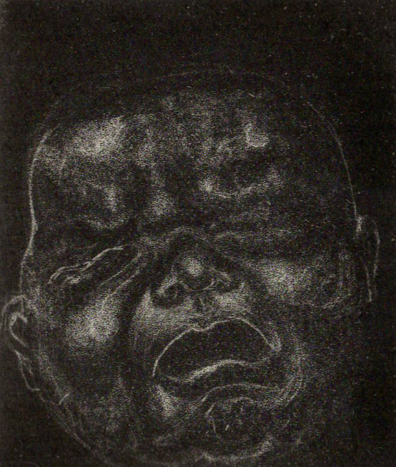 Crying Baby, Mezzotint