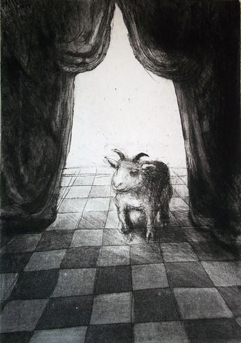 Theatrical Goat, Etching
