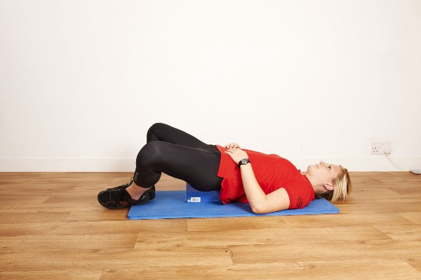 A variation of Sarah Key's back block exercise