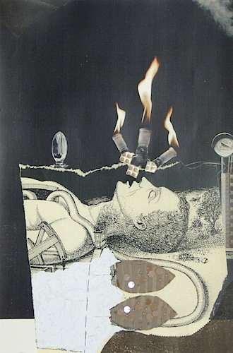 17 x 11in.  Collage