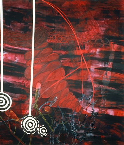 Missed   72 x 84 inches  acrylic on canvas