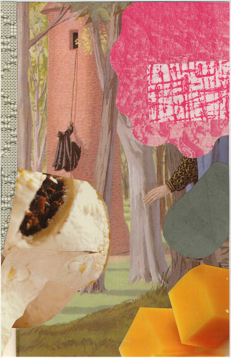 Oop #2   16 x 11in.  Collage on archival paper