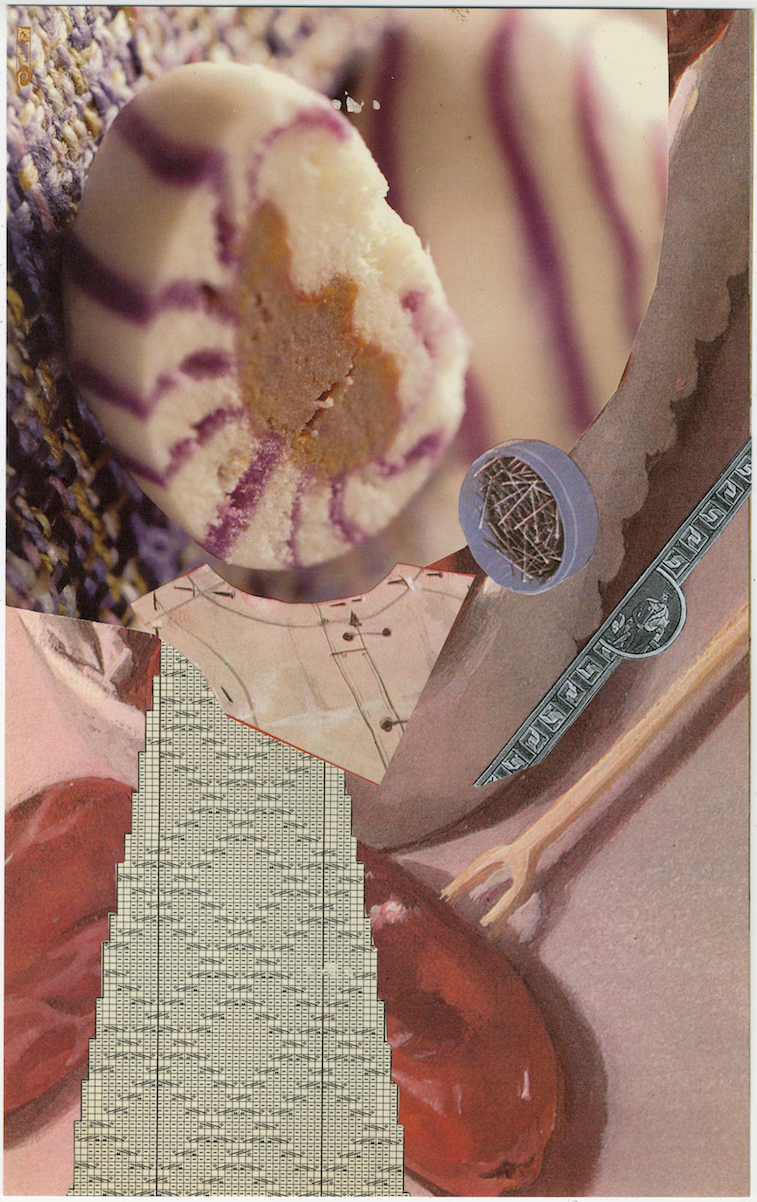 """Oop #16""  16 x 11in.  Collage on archival paper"