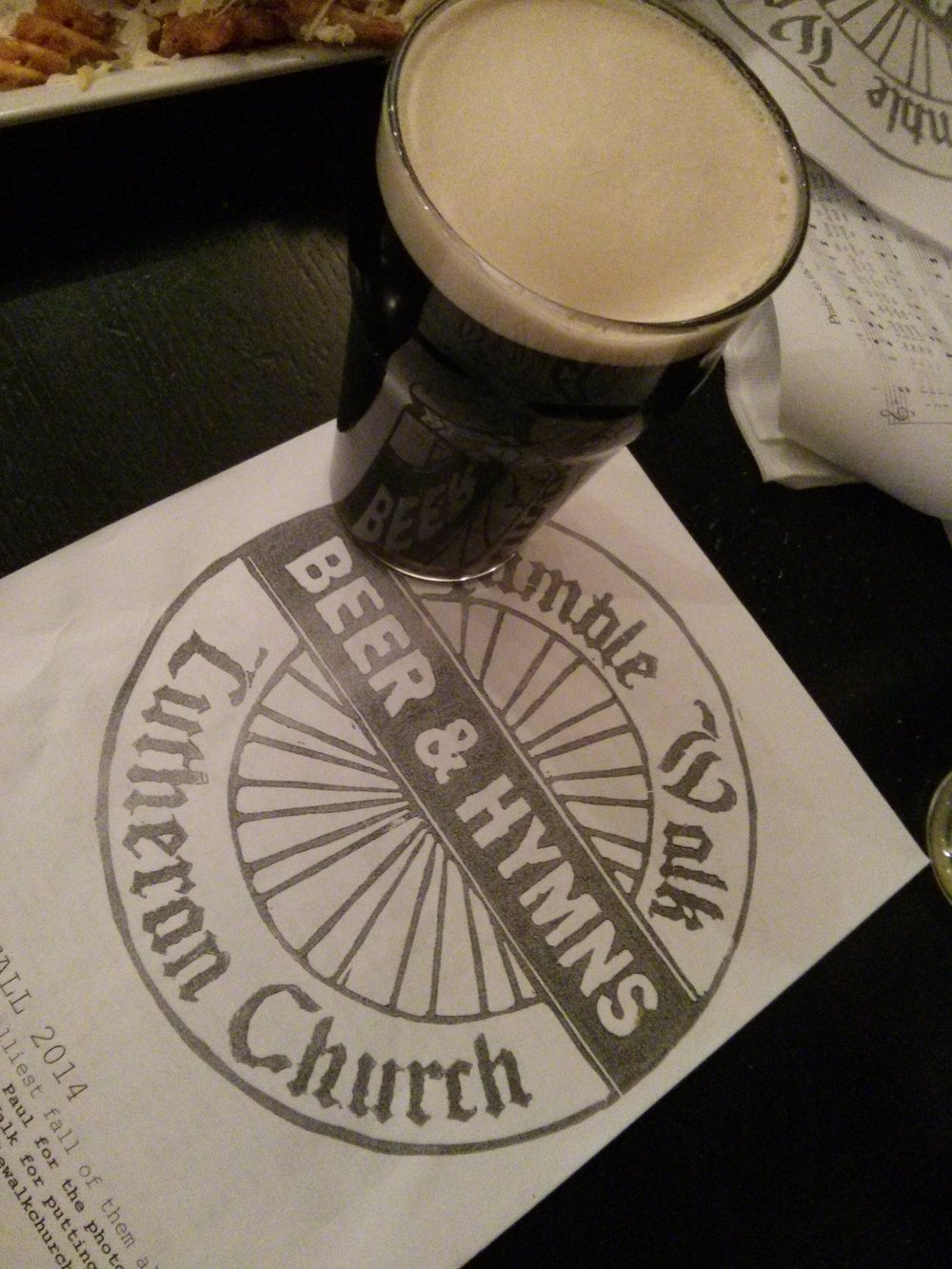 Beer and Hymns Hymnal with Beer.jpg