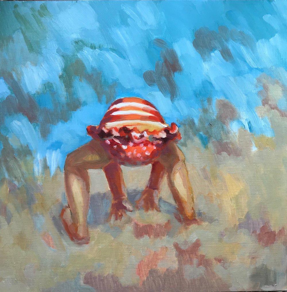 Crab legs oil, 12 x 12