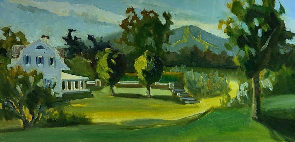 MT Sunapee Dawn, oil, 12 x 24