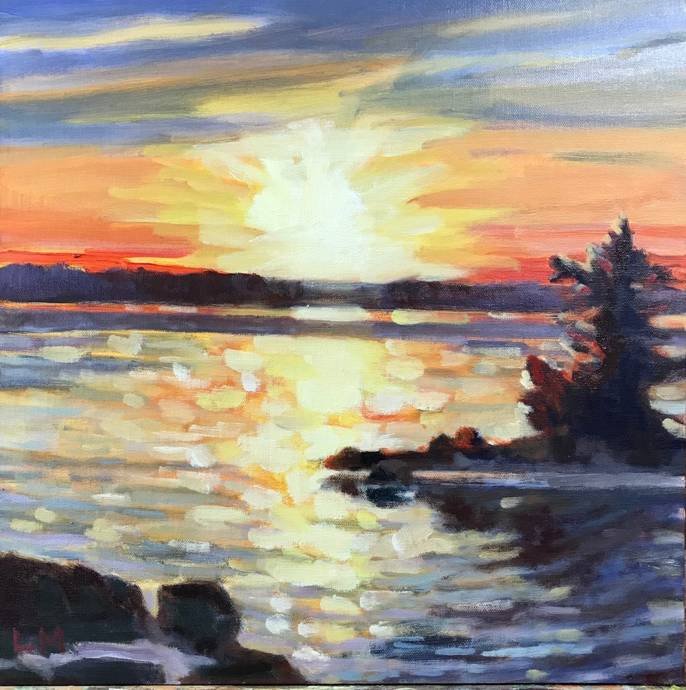 Sunrise, oil, 12 x 12