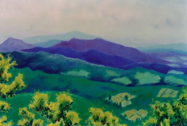 Blue Ridge MTs, pastel, 18 x 24