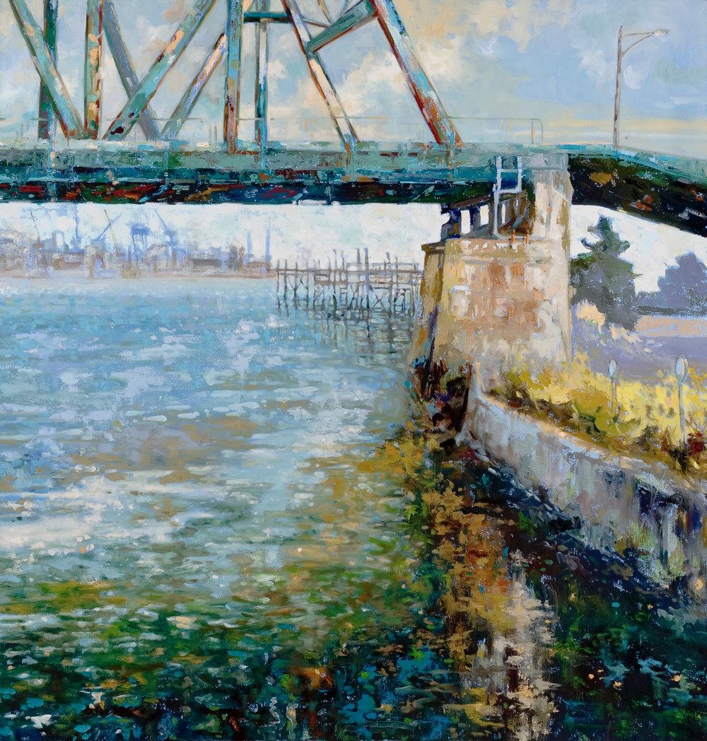 Blue Water, oil, 36 x 38