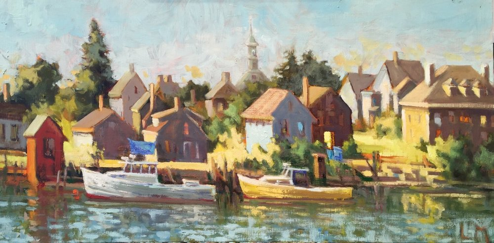 Geno's Chowder House, oil on board, 12 x 24