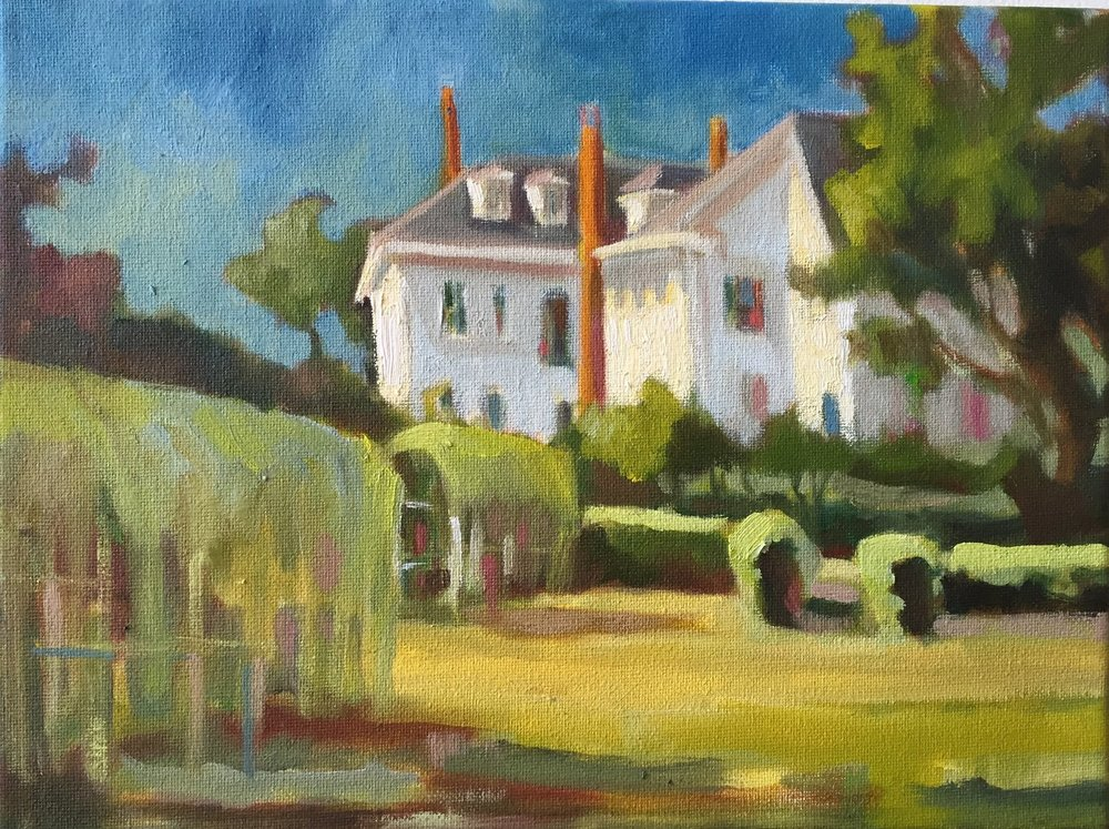 Gov. John Langdon House, oils, 9 x 12
