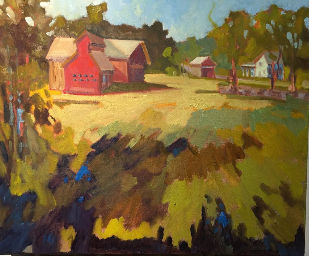 Lotta Rock Farm, oil, 18 x 24