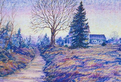 Nod Road, pastel, 18 x 24