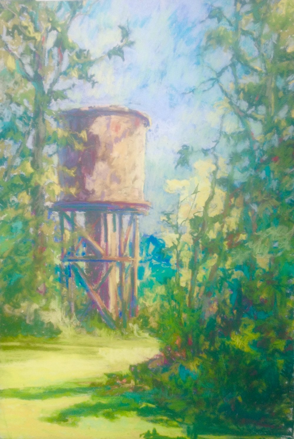 Penland Tower, pastel, 14 x 18